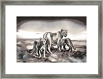 Framed Print featuring the digital art The Pride by Pennie McCracken