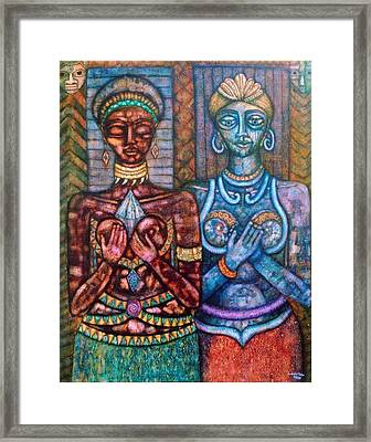 The Priestess Of The Occult Framed Print by Madalena Lobao-Tello