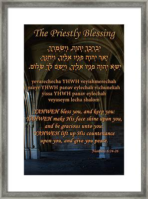 The Priestly Aaronic Blessing Framed Print