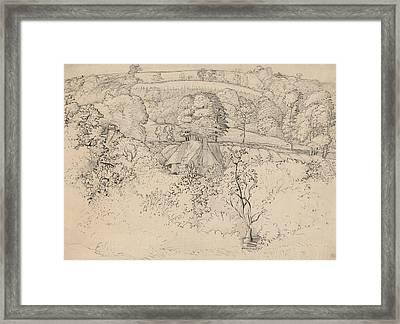 The Primitive Cottage, Shoreham Framed Print by Samuel Palmer