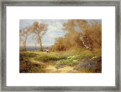 The Primrose Gatherers Framed Print by John Clayton Adams