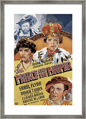 The Prince And The Pauper, Errol Flynn Framed Print