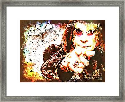 The Prince Of Darkness Framed Print