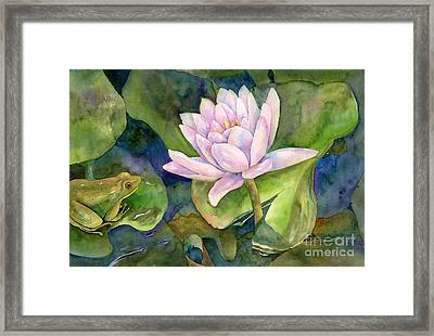 The Prince Of Peace Pond Framed Print by Amy Kirkpatrick
