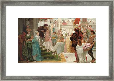 The Prince's Choice Framed Print by Thomas Reynolds Lamont