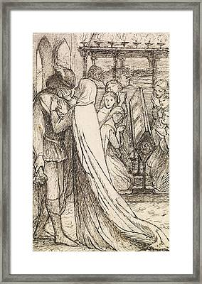 The Prince's Progress Framed Print by Dante Gabriel Rossetti