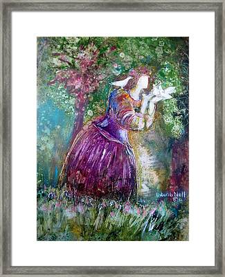 The Princess And The Birds Framed Print