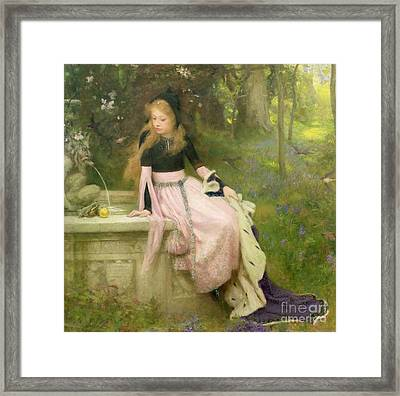 The Princess And The Frog Framed Print by William Robert Symonds