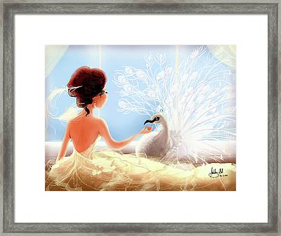 The Princess And The Peacock Framed Print