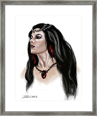 The Princess Morgana Framed Print by James Christopher Hill