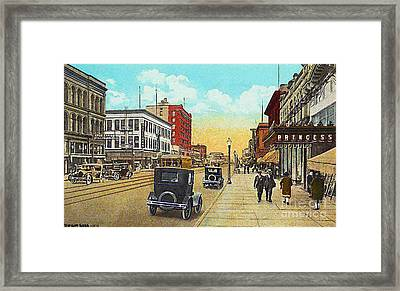 The Princess Theatre In Superior Wi In The 1930's Framed Print