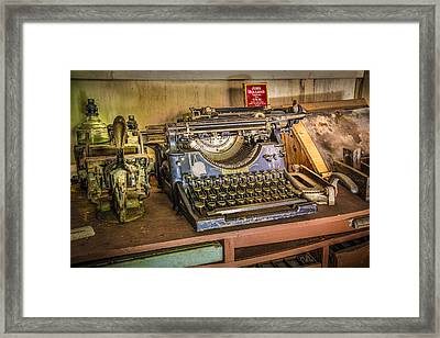 The Print Shoppe Framed Print by Debra and Dave Vanderlaan