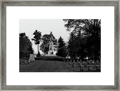 The Private Soldier Monument - Antietam Framed Print