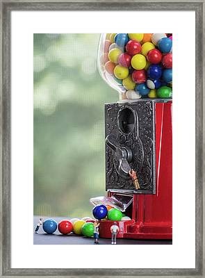 The Problem With Gumball Machines Framed Print