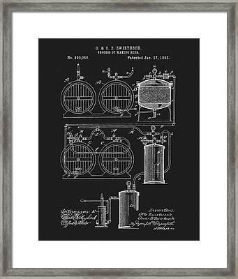 The Process Of Making Beer 1893 Framed Print