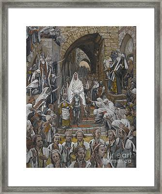 The Procession In The Streets Of Jerusalem Framed Print