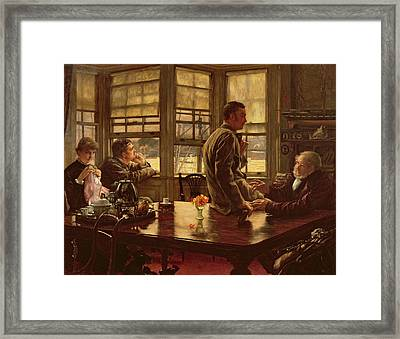 The Prodigal Son In Modern Life  The Departure Framed Print
