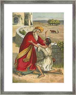 The Prodigal's Return Framed Print by  English School