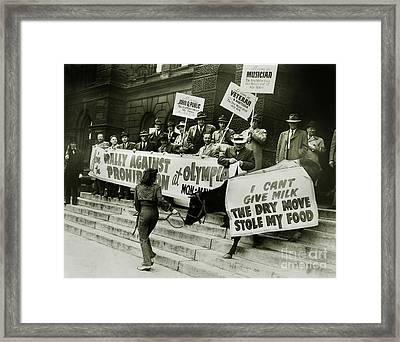 The Prohibition Cow Framed Print by Jon Neidert