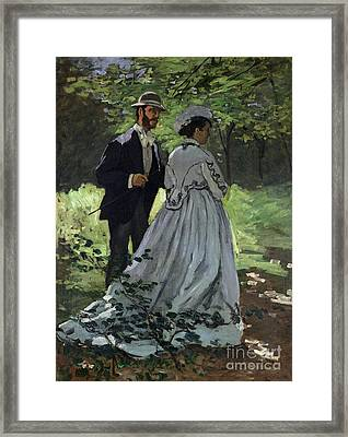 The Promenaders Framed Print by Claude Monet
