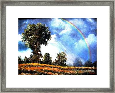 Framed Print featuring the painting The Promise  by Hazel Holland