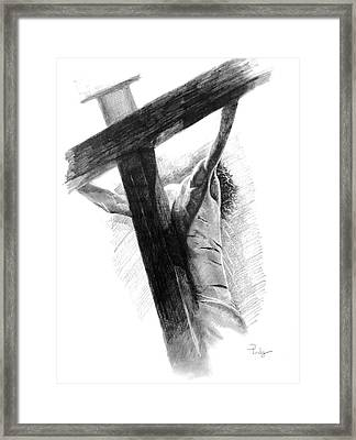 Framed Print featuring the drawing The Promise by Noe Peralez