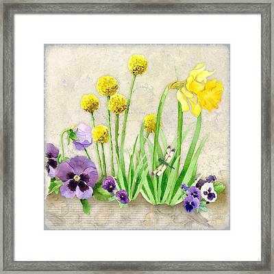 The Promise Of Spring - Dragonfly Framed Print by Audrey Jeanne Roberts