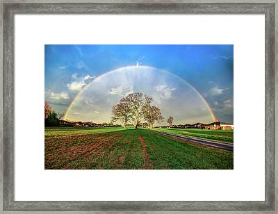 The Promise - Suburban Rainbow Framed Print