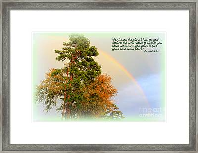 The Promises Of God Framed Print by Kathy  White