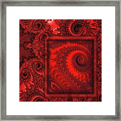 The Proper Victorian In Red  Framed Print