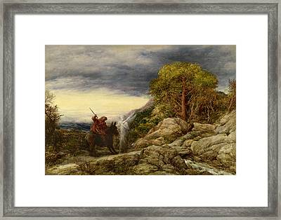 The Prophet Balaam And The Angel Framed Print by John Linnell