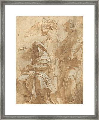 The Prophets Hosea And Jonah Framed Print by Raphael