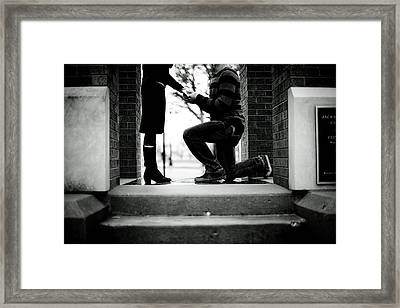 The Proposal Framed Print by Ben White