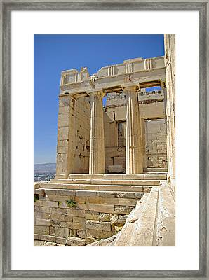 The Propylaia In Athens          The Propylaia - Vertical                                    Framed Print by Rich Walter
