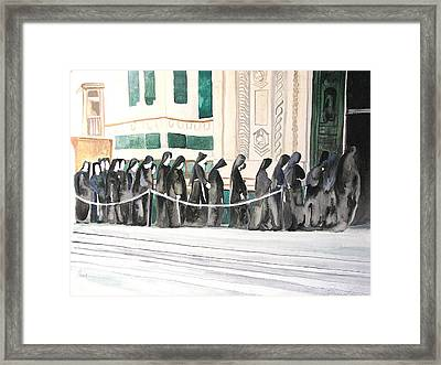 Framed Print featuring the painting The Prosession by Patricia Arroyo
