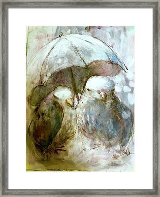 The Protection Of Friendship Framed Print