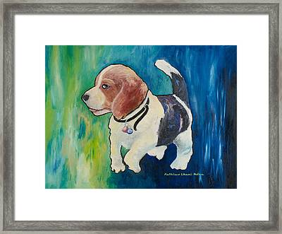 The Proud Puppy Framed Print
