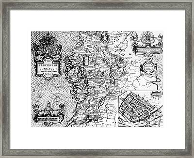 The Province Of Connaught With The City Of Galway Framed Print