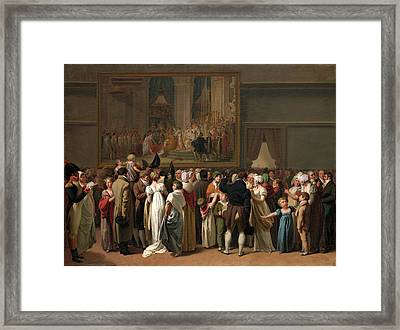 The Public Viewing David's Coronation At The Louvre Framed Print