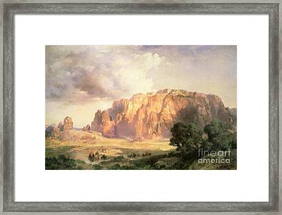 The Pueblo Of Acoma In New Mexico Framed Print by Thomas Moran