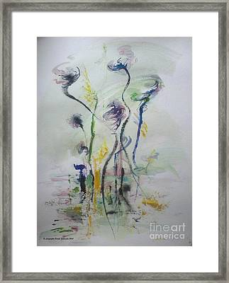 The Puff Moment Framed Print
