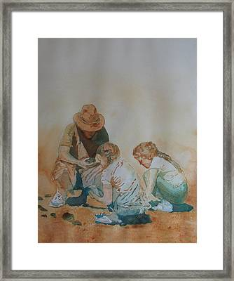The Pumice Seekers Framed Print