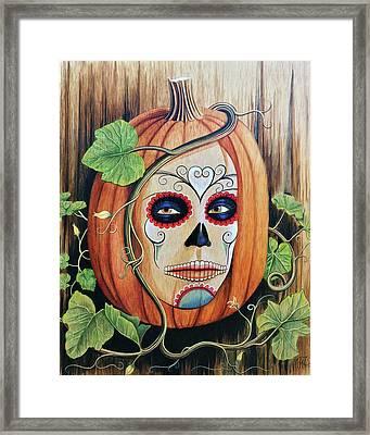 The Pumpkin Queen Framed Print