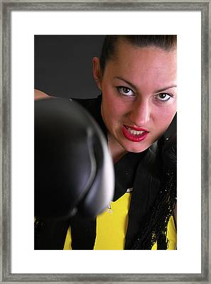 The Punch Framed Print by Pit Hermann