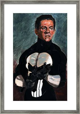 The Punisher In Pulp Framed Print by Aljohn Gonzales