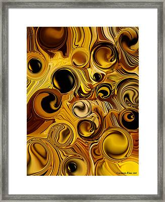 Framed Print featuring the digital art The Pure Movement by Carmen Fine Art