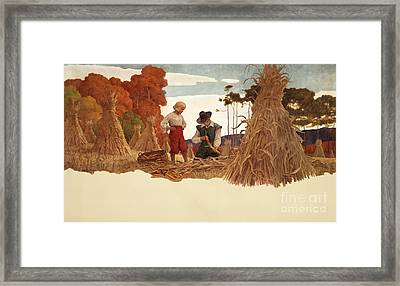 The Puritan Corn Husker Framed Print by Newell Convers Wyeth