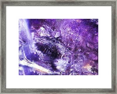 The Crystal Abundance Dragon Framed Print