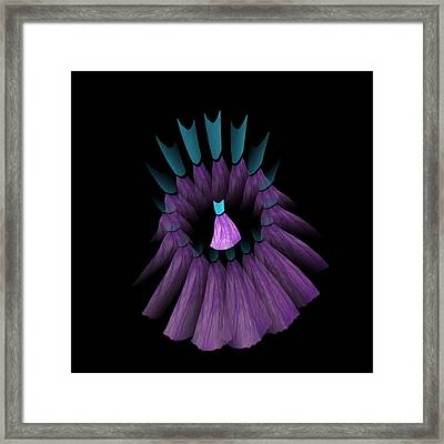 The Purple And Teal Dream Circle Of Wise Women Framed Print by Jacqueline Migell