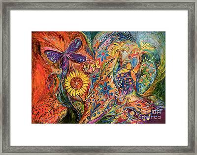 The Purple Butterfly Of Yotvata Framed Print by Elena Kotliarker